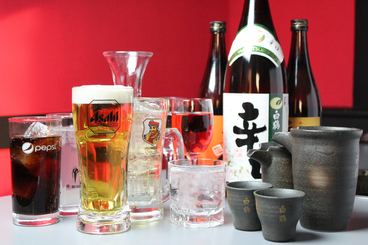 飲み放題+1,900円(税抜)