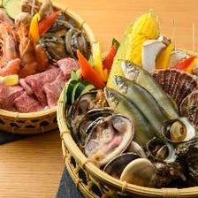 海鮮とお肉のBBQプラン