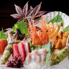 【魚派のあなた】本日刺身&焼き魚や旬菜の天ぷらの7品『魚コース』2h飲み放題付4400円⇒3300円