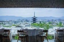 京都の美しい街並みを眺めながら…
