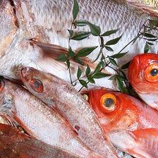 銚子港直送の魚介類が楽しめる