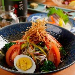 緑黄野菜の塩サラダ