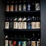 日本酒も季節に応じて多数お楽しみ頂けます。