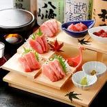 マグロを中心に、北海道から厳選の海鮮料理をご提供