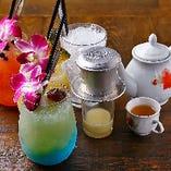〈ソフトドリンク〉 ベトナムのお茶やコーヒーなどが充実!
