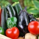 色ツヤの良い野菜は旬にこだわりフレッシュなものを使用。