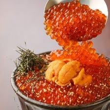 #雲丹といくらの贅沢丼(龍の卵のせ)