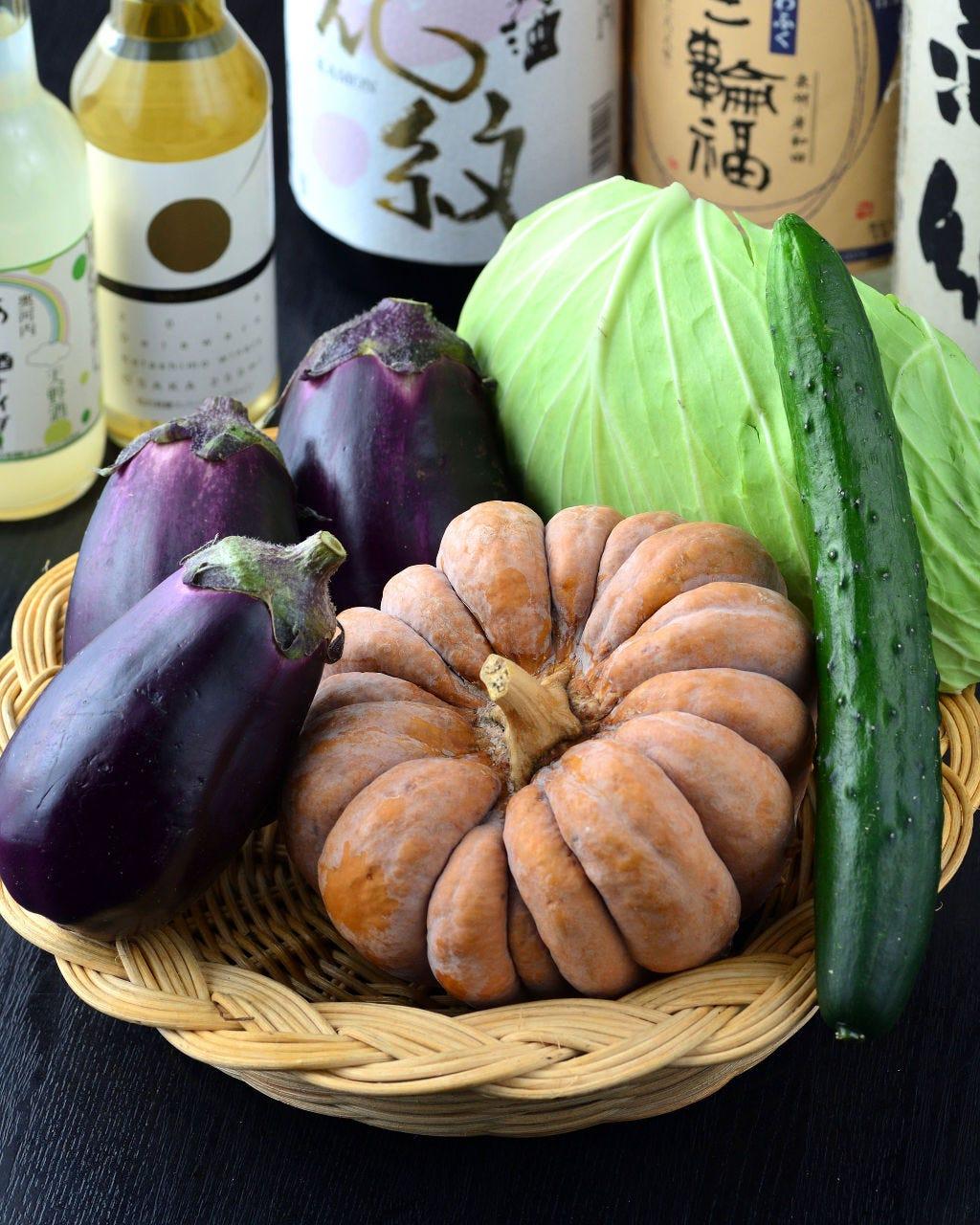 大阪の農家から新鮮な野菜が届きます