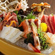 毎日仕入れる旬の新鮮魚介