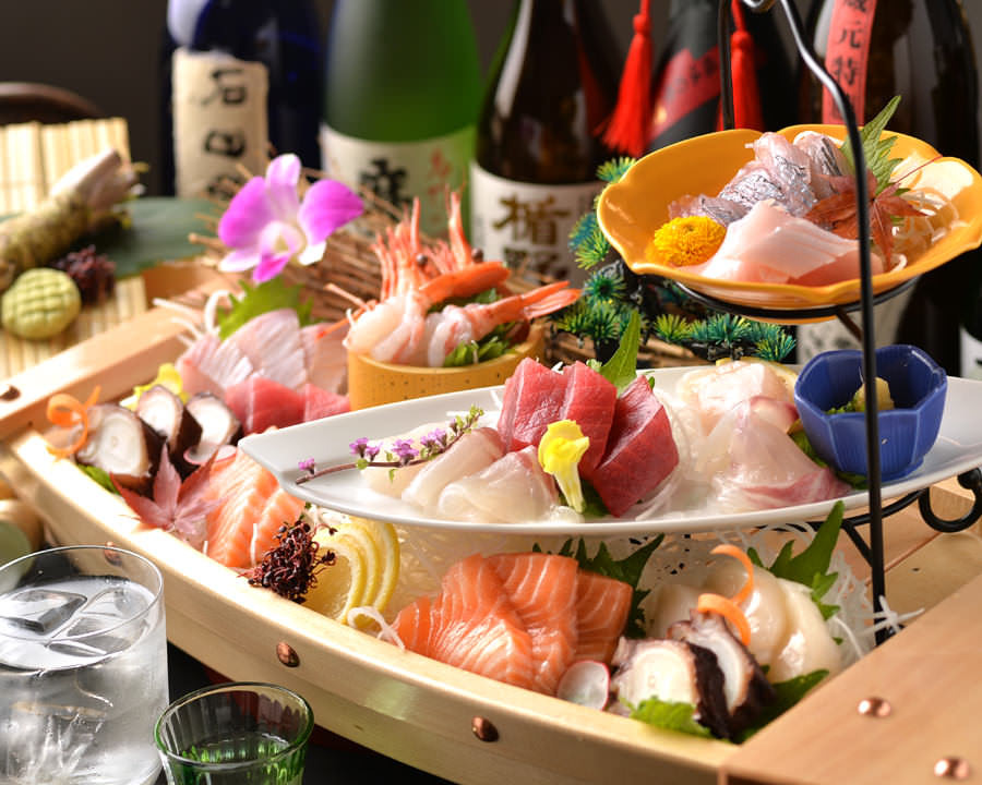 新鮮な旬の魚と本格握り寿司が自慢!