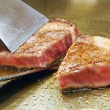 厳選された食材を鉄板で豪快調理!