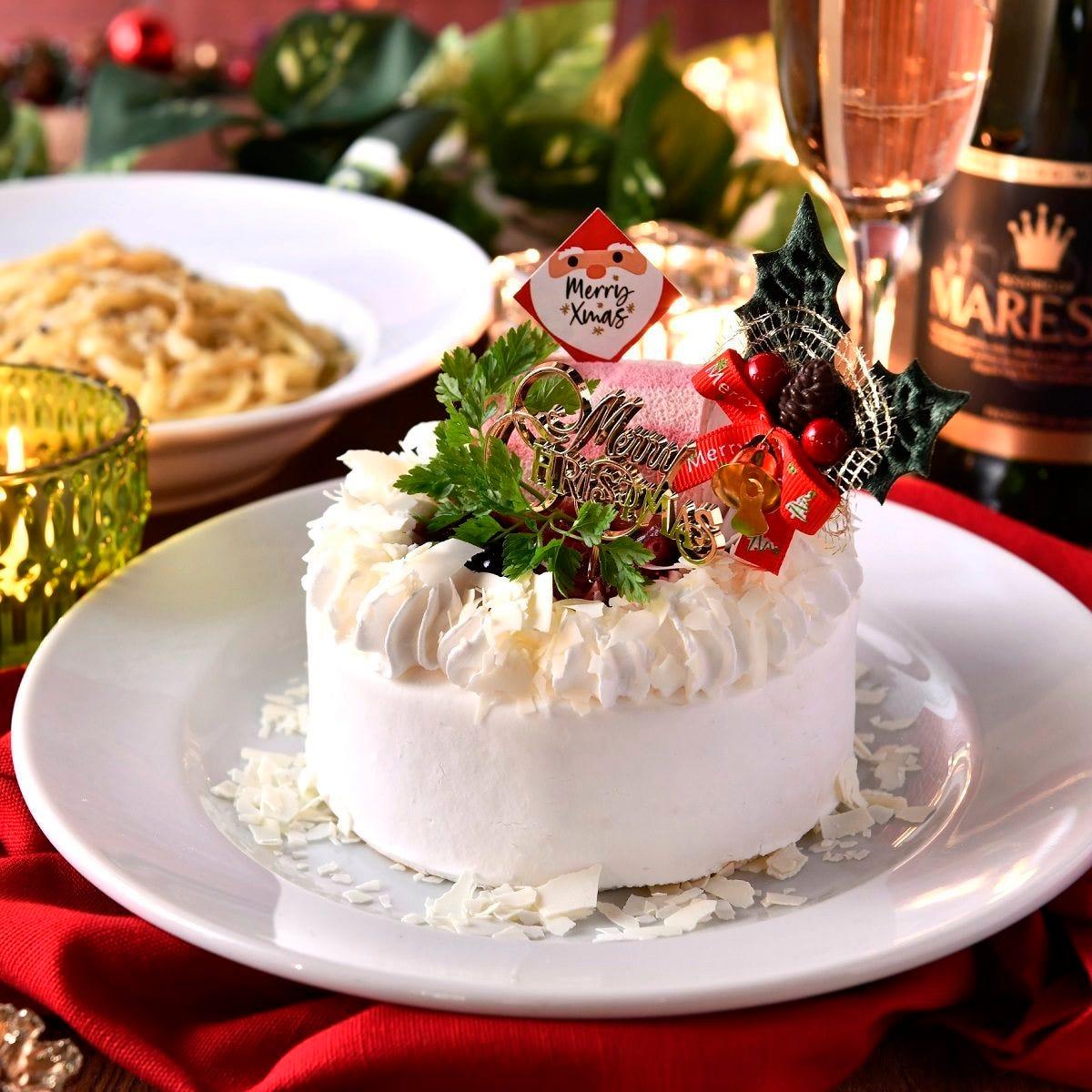 12/23~25限定《クリスマスコース》専属パティシエが手掛けるホールケーキ&2時間飲み放題付【6品】4500円