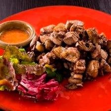 ◆宮崎地鶏「地頭鶏」の炭火焼き