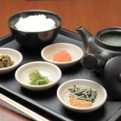 鶏スープ茶漬け (明太・梅・昆布)