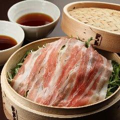 鹿児島黒豚と葱と水菜のセイロ蒸し(2~3人前)