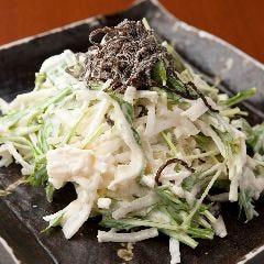 ホタテと大根の昆布サラダ