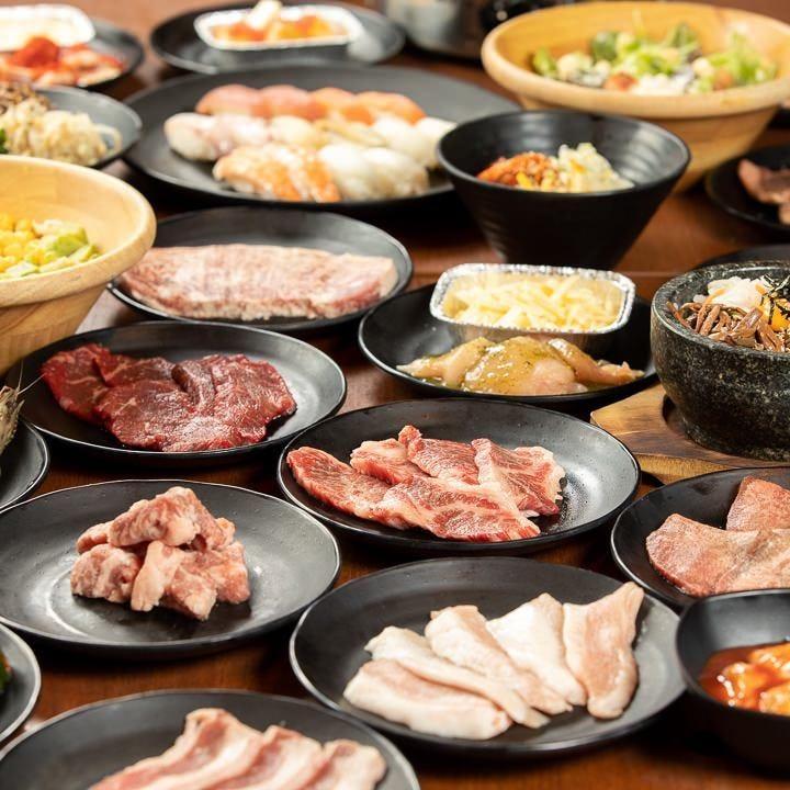 食べ飲み放題で3,000円~とかなりお得な上にメニューも豊富!