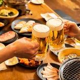 食べ飲み放題は大人数宴会に最適☆コミコミ価格3,000円(税込)~