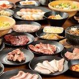 焼肉以外にも美味しいメニューがズラリ!最大87品が食べ放題
