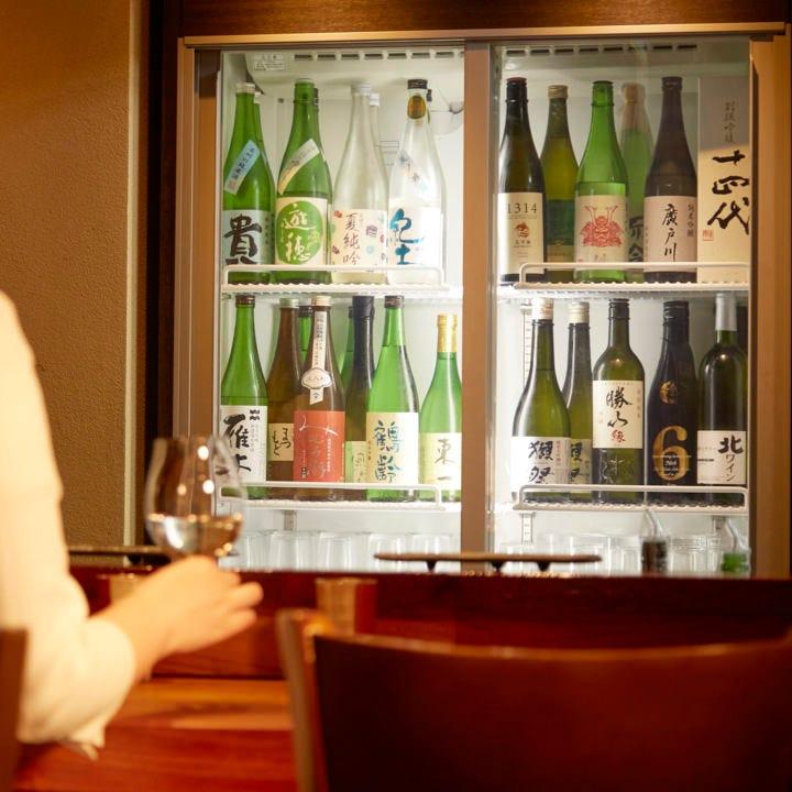 選りすぐりの日本酒&ワインが充実
