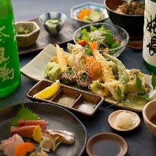 季節を彩る新鮮素材の天ぷらを満喫