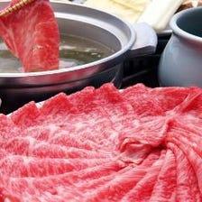 牛肉しゃぶ食べ飲み放題2H8品4400円