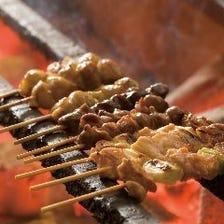 さつま純然鶏を使用した炭火焼き鳥