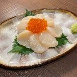 北海道産 生ホタテ-刺身-