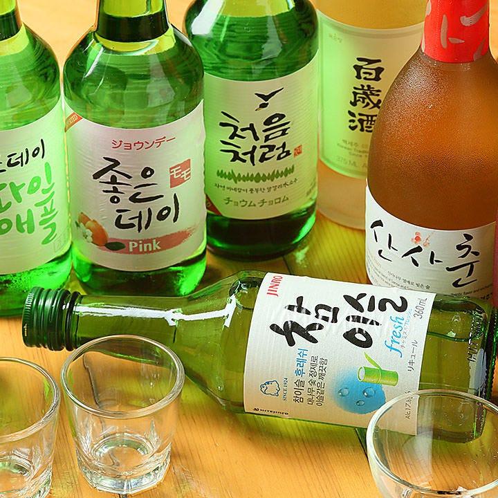 韓国酒など多彩なドリンクでカンパイ