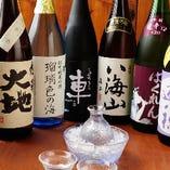30種を超えるこだわりの全国の日本酒も日々入荷しております