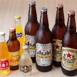 近頃では珍しく大瓶のビールを始めお酒を多数ご用意しています