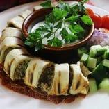 シシケバブをトルティーヤで食べやすくロールしました。