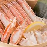 """【贅沢な蟹】 時期によって産地を変え常に""""美味しい""""をお届け"""