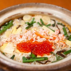 蟹炊き込みご飯