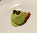 グリーンピース、胡桃、うるい