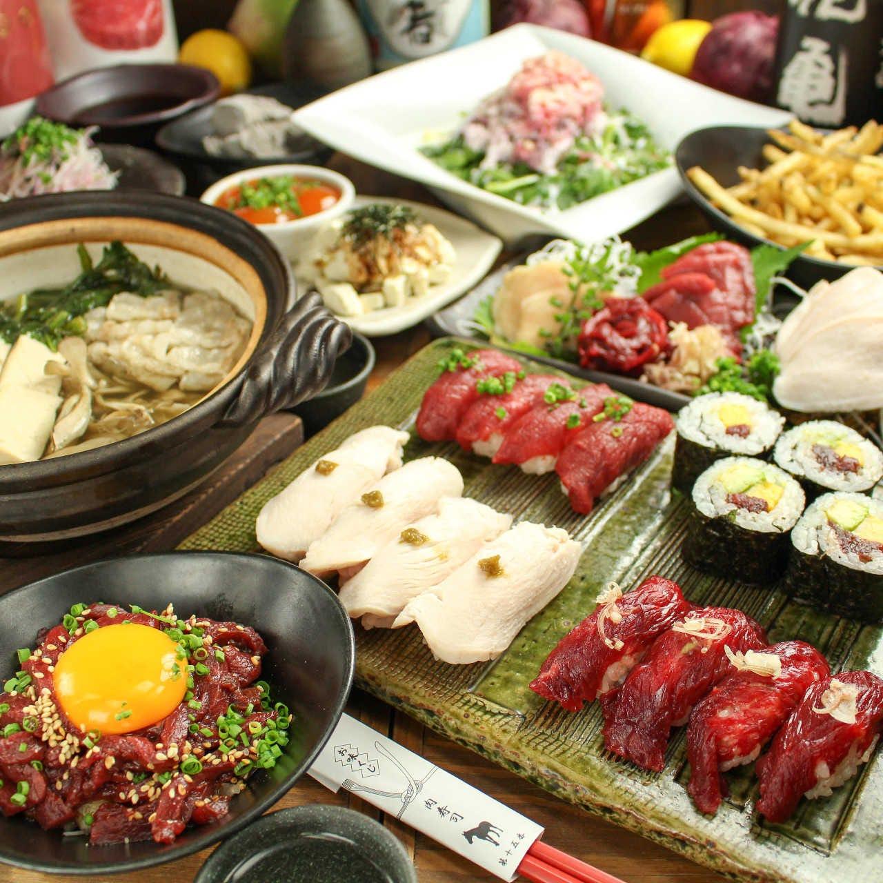 【各種ご宴会におススメ】 肉寿司自慢のコース♪