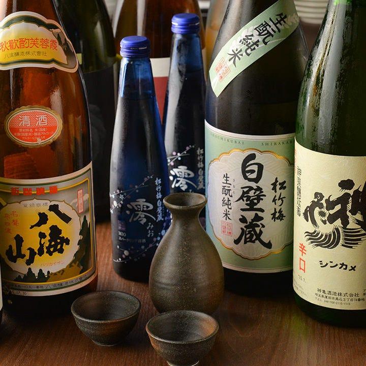 お肉にピッタリの種類豊富な日本酒をぜひご堪能ください。