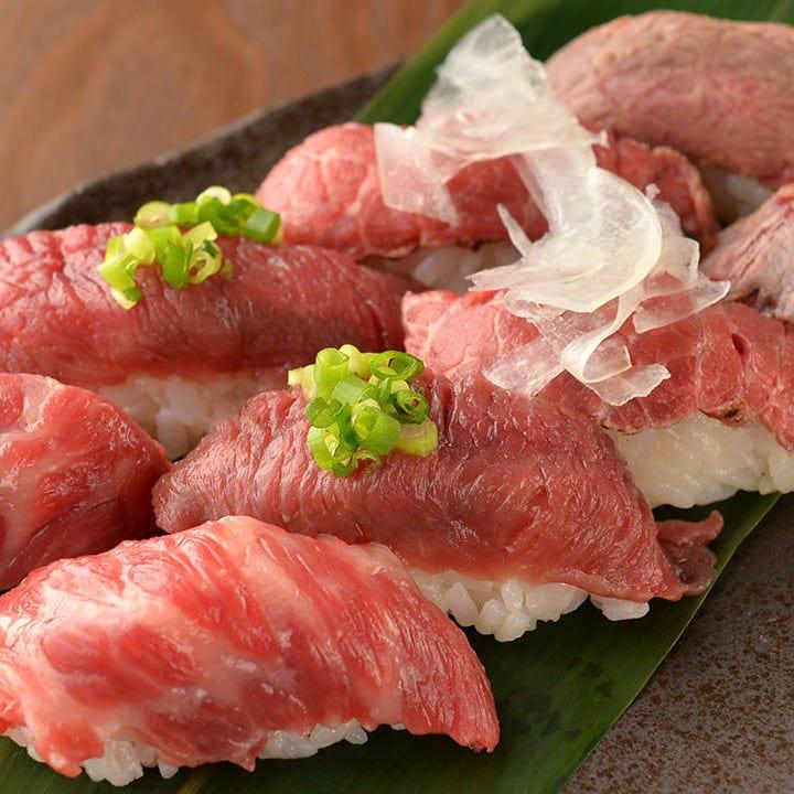 お肉に合わせたこだわりのすし酢を使用した秘伝の味です。