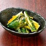 タタキ胡瓜 辛子味噌