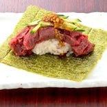 極太ヒレこぼれ包み寿司