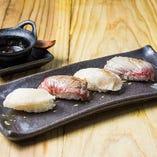 炙り肉寿司盛り合わせ 4貫