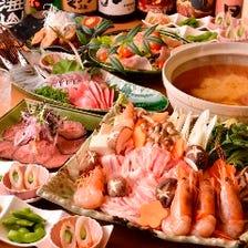 地元小田原の食材を使用したご宴会