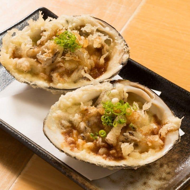 【お料理3品+天ぷら12種(有頭天然海老、北寄貝等)】旬を味わう天ぷら会席コース 4,400円。