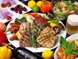 豪華な肉盛りプレートが大人気♪2.5時間飲放付き 全13品 Partyコース/4,630円(税抜)