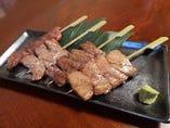 上串焼盛り(上カルビ・上ロース・上タン塩・サーロイン)