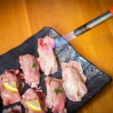 【当店名物】炙り肉寿司を堪能!