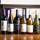日本酒や焼酎はもちろん、ワインのラインナップも豊富