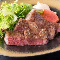 【大人気】黒毛和牛の網焼きステーキ