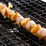 ツブ貝の串焼