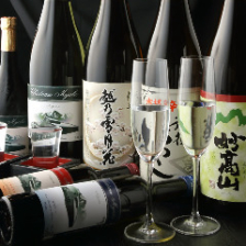 蔵元直送地酒ほかドリンク全140種超!